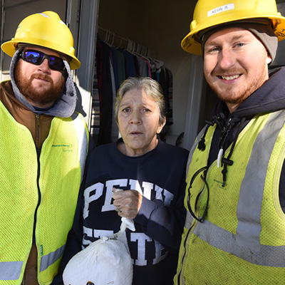 Natural gas workers delivered turkeys to neighbors in need.
