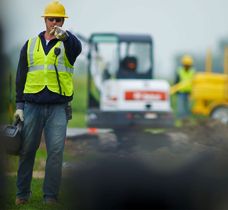 Consumers Energy Employee On Job Site